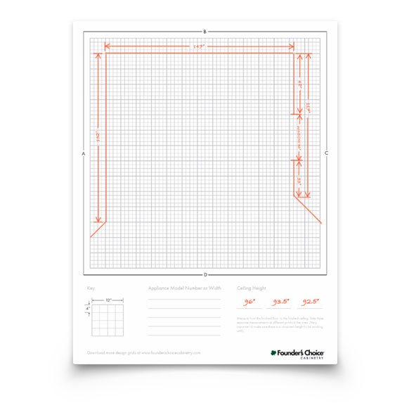 Kitchen Layout Planner Grid: Founder's Choice Cabinetry