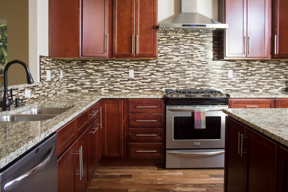 Majestic Merlot Kitchen - Founder's Choice Cabinetry